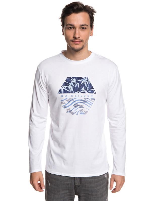 0 Bamboo Breakfast - T-shirt à manches longues pour Homme Blanc EQYZT04976 Quiksilver