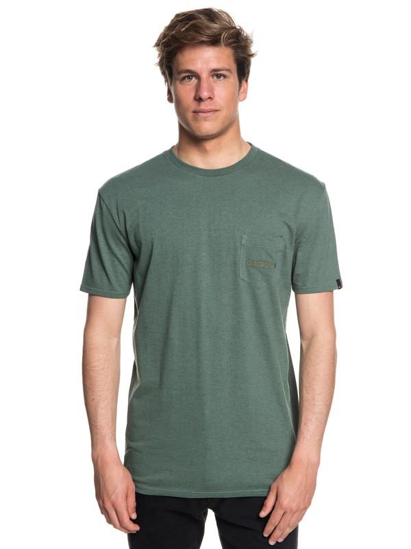 0 The Stitch Up - Maglietta con tasca da Uomo Blue EQYZT05004 Quiksilver