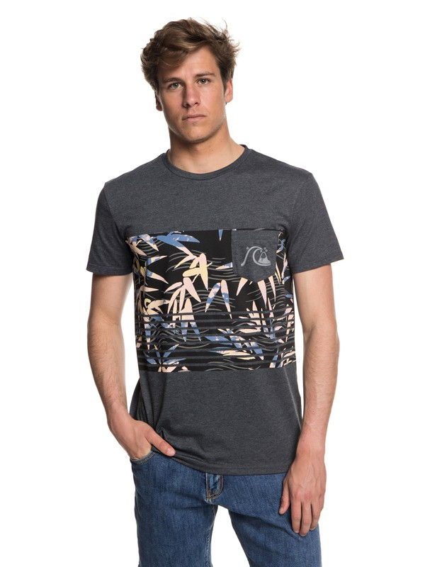 0 Silent Furry - Pocket T-Shirt for Men Black EQYZT05006 Quiksilver