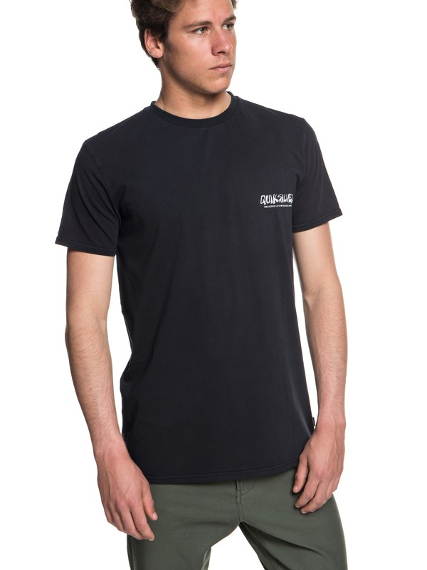 0 The Original Mountain And Wave - T-shirt col rond pour Homme Noir EQYZT05009 Quiksilver