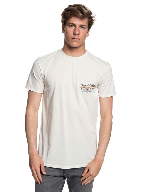 0 Hot Sake - T-shirt col rond pour Homme Beige EQYZT05011 Quiksilver