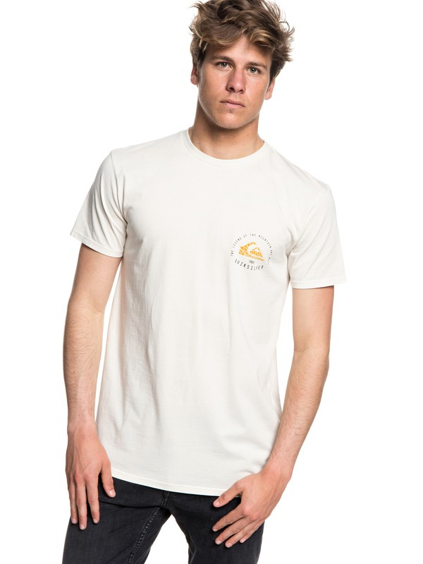 0 Rising Giant - T-shirt col rond pour Homme Beige EQYZT05014 Quiksilver