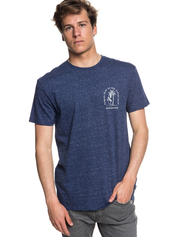 0 Glad You're Back - T-shirt col rond pour Homme Bleu EQYZT05019 Quiksilver