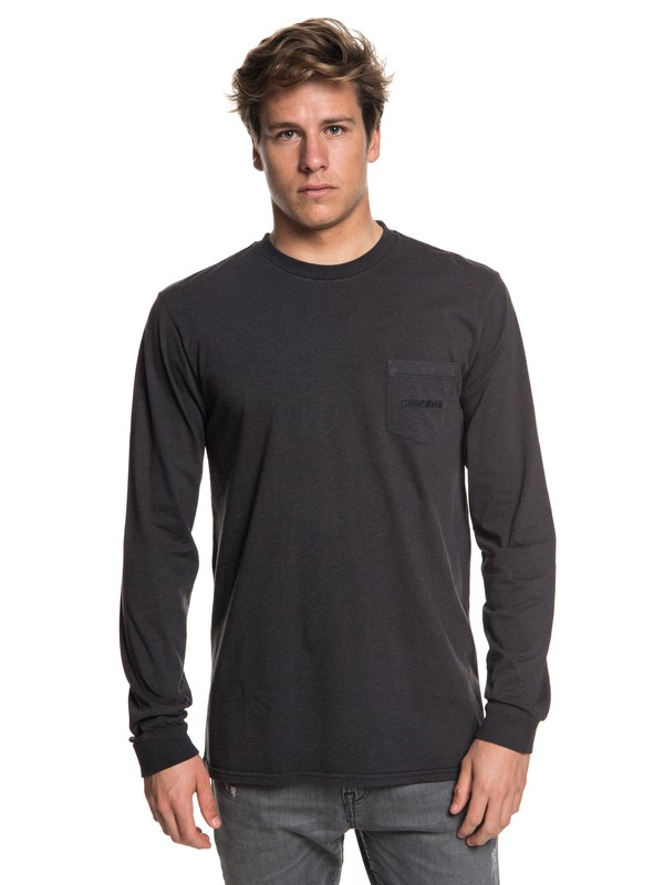 0 The Stitch Up Long Sleeve Tee Black EQYZT05022 Quiksilver
