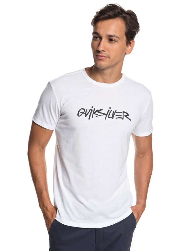 0 Rocco Chains Technical Tee White EQYZT05125 Quiksilver