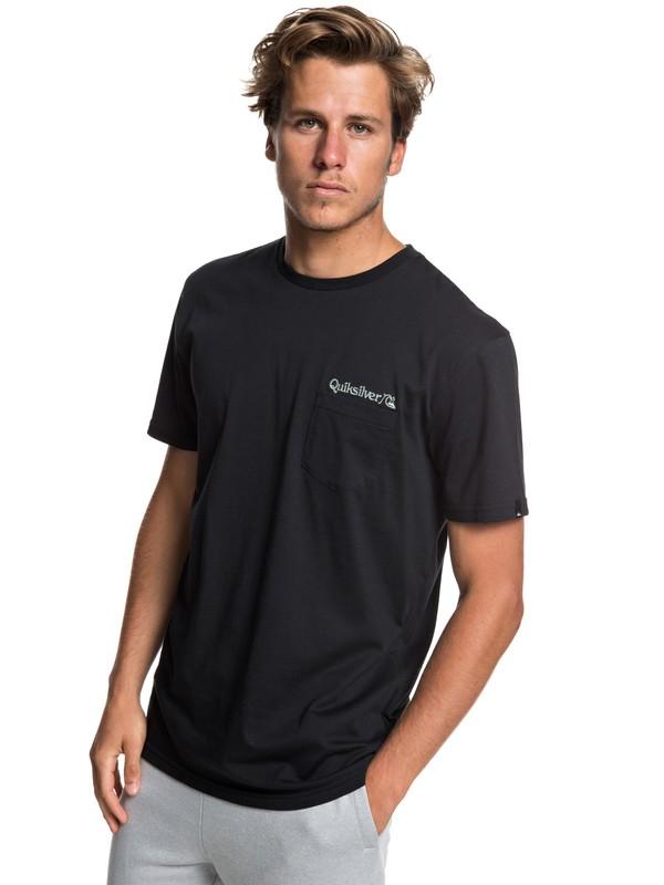 0 Art Tickle - Pocket T-Shirt for Men Black EQYZT05205 Quiksilver