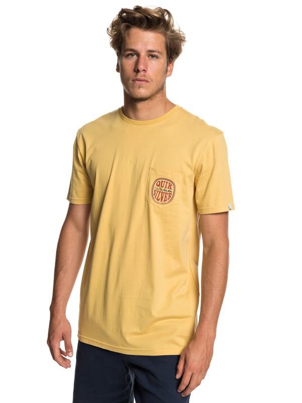 0 Quik Paradise - Camiseta con Bolsillo para Hombre Amarillo EQYZT05206 Quiksilver