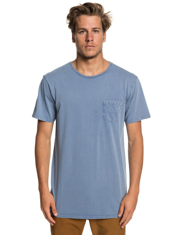 0 False Face Society Pocket Tee Blue EQYZT05216 Quiksilver