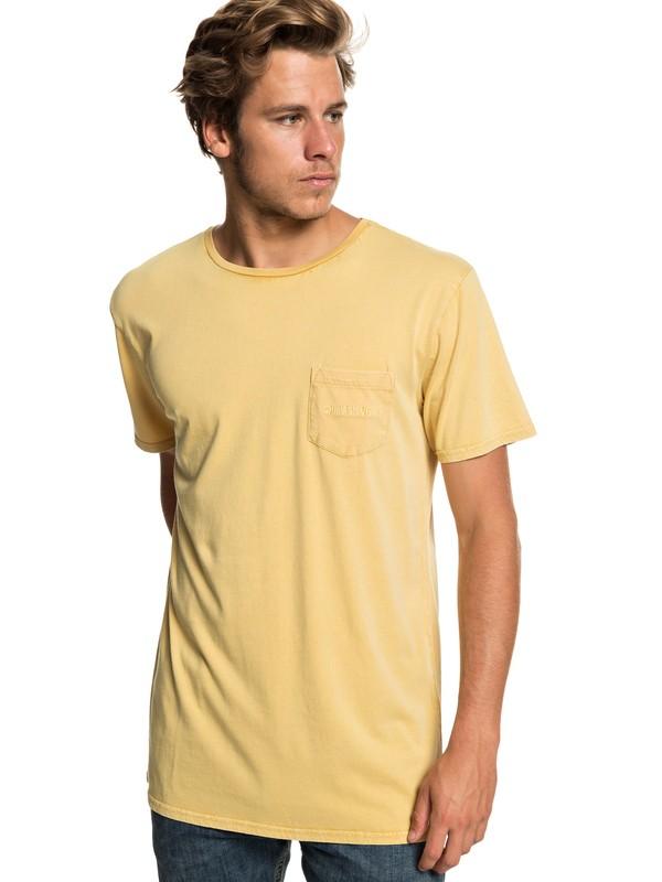 0 False Face Society Pocket Tee Yellow EQYZT05216 Quiksilver