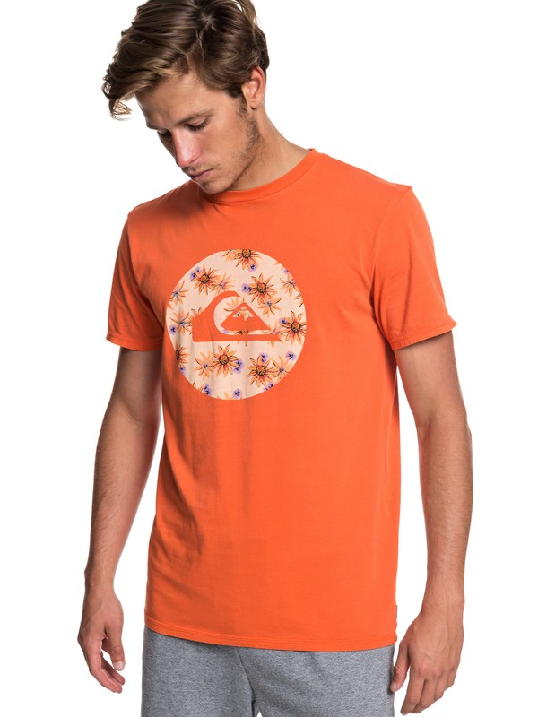 0 Quik Circled Tee Orange EQYZT05227 Quiksilver