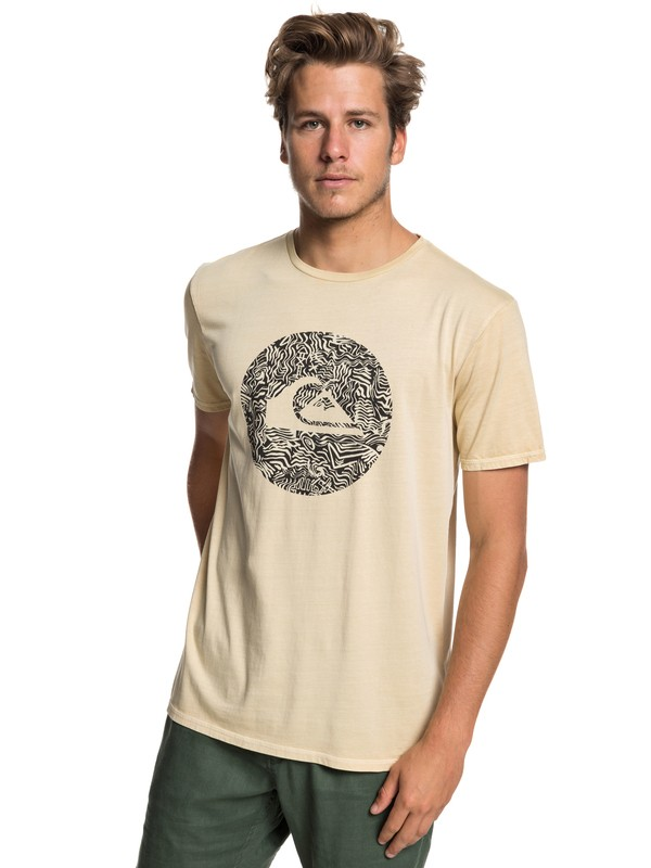0 Quik Circled - Camiseta para Hombre Beige EQYZT05227 Quiksilver