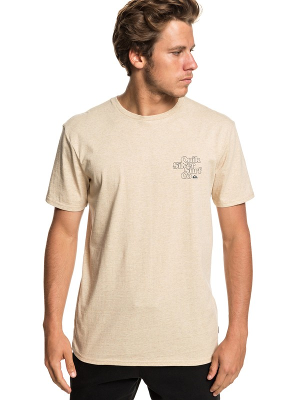 0 Double Stacked - Camiseta para Hombre Beige EQYZT05230 Quiksilver