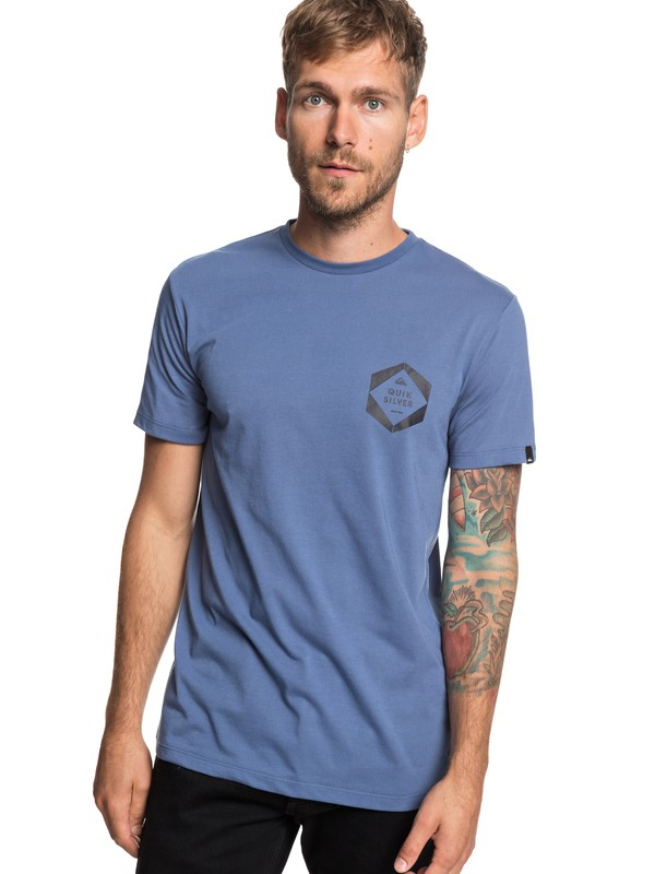 0 Swell Frame Tee Blue EQYZT05239 Quiksilver