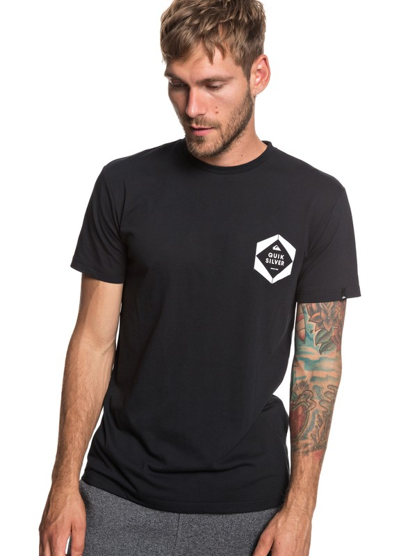 0 Swell Frame - T-Shirt for Men Black EQYZT05239 Quiksilver