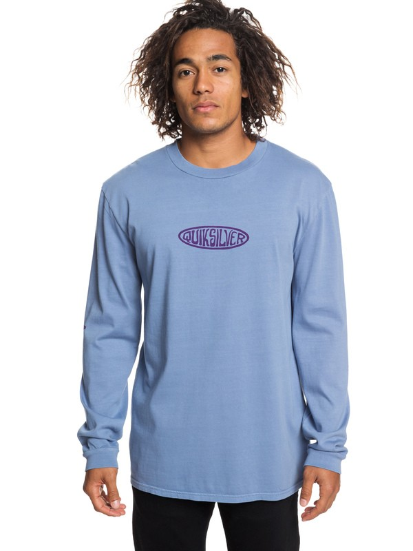 0 Camiseta de Manga Larga Gliding Light Azul EQYZT05253 Quiksilver