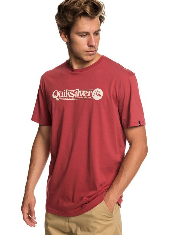 0 Art Tickle - Camiseta para Hombre Rojo EQYZT05259 Quiksilver