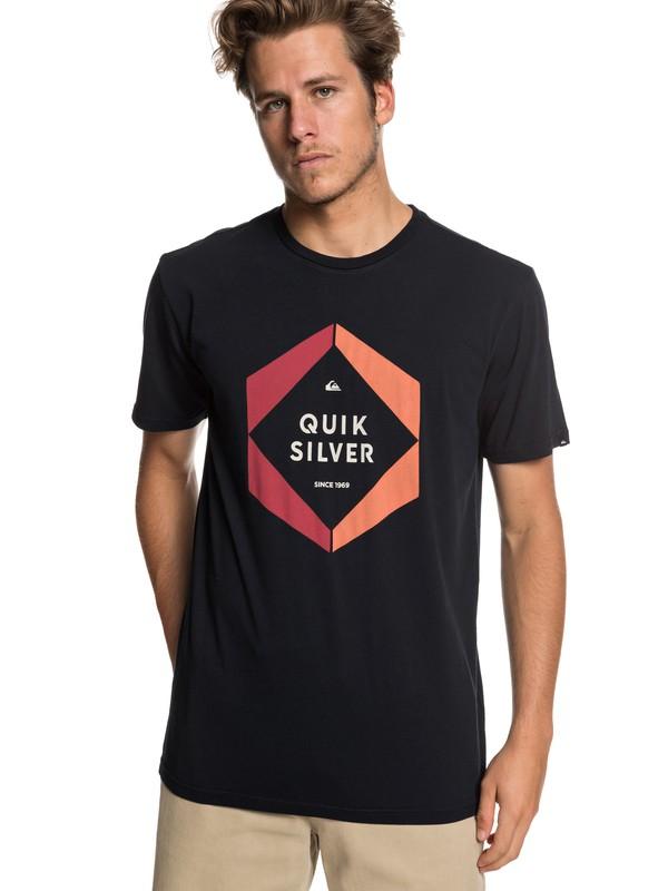 0 Hexa Logo - Camiseta para Hombre Negro EQYZT05260 Quiksilver