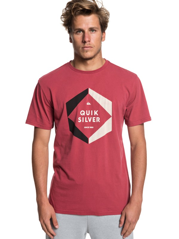 0 Футболка Hexa Logo Красный EQYZT05260 Quiksilver