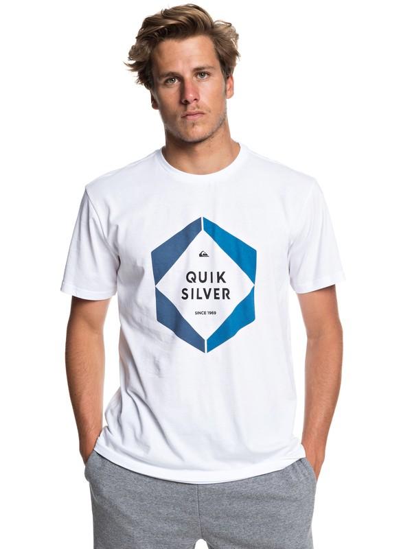 0 Hexa Logo - Camiseta para Hombre Blanco EQYZT05260 Quiksilver