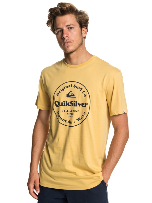 0 Secret Ingredient - Camiseta para Hombre Amarillo EQYZT05265 Quiksilver