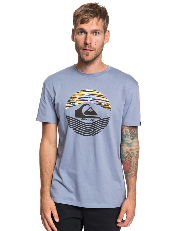 0 Stomped On - T-Shirt for Men Blue EQYZT05268 Quiksilver
