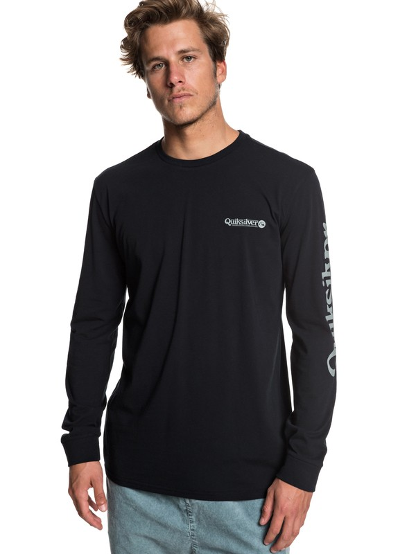 0 Check It - Long Sleeve T-Shirt for Men Black EQYZT05281 Quiksilver