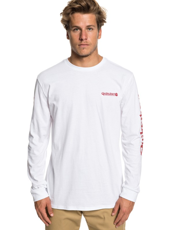 0 Check It - Camiseta de Manga Larga para Hombre Blanco EQYZT05281 Quiksilver