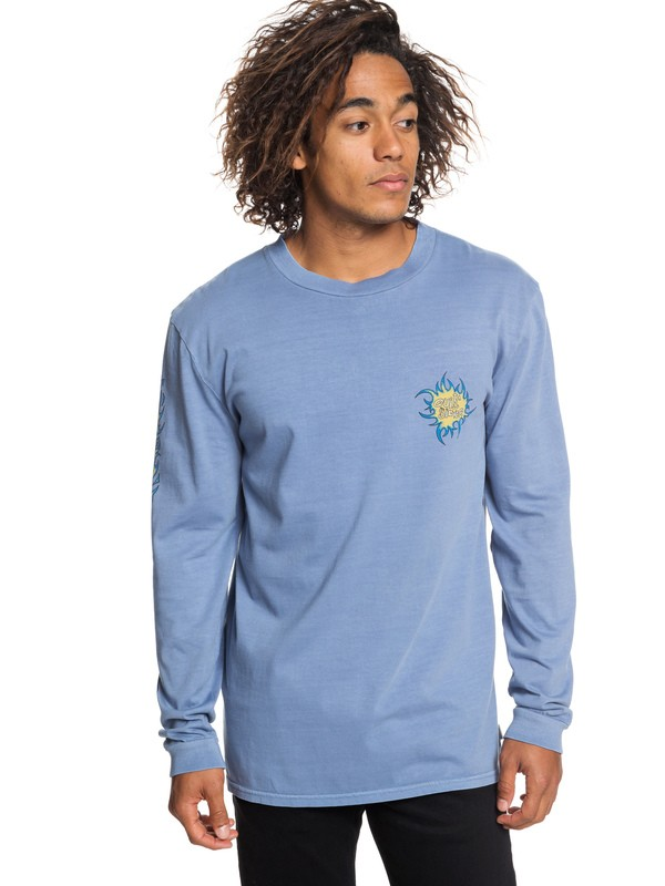 0 Quik Tribe Long Sleeve Tee Blue EQYZT05300 Quiksilver