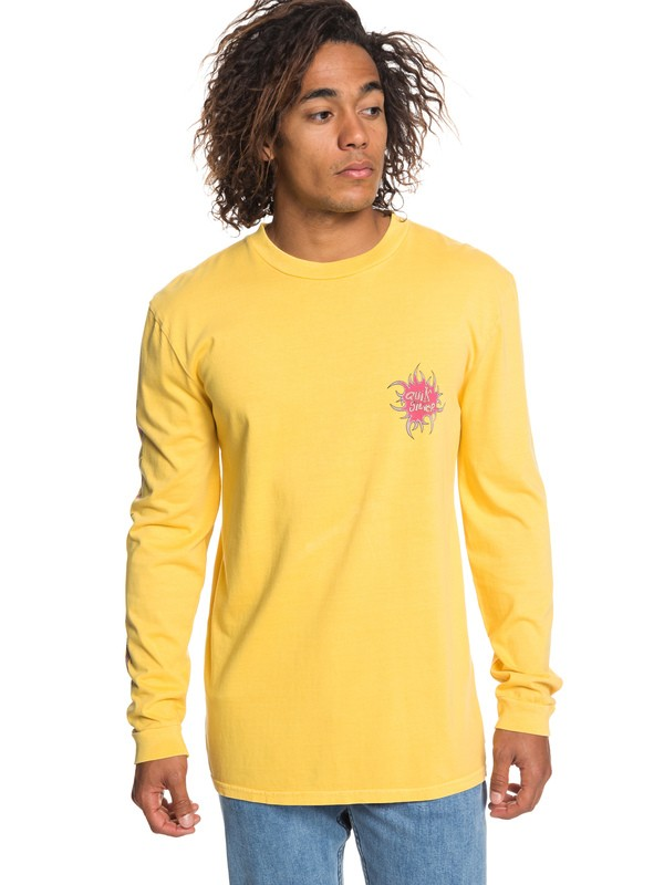 0 Quik Tribe Long Sleeve Tee Orange EQYZT05300 Quiksilver