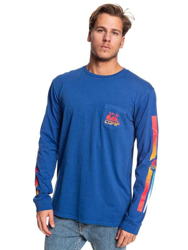 0 St Comp Factory - Camiseta de Manga Larga con Bolsillo para Hombre Azul EQYZT05342 Quiksilver