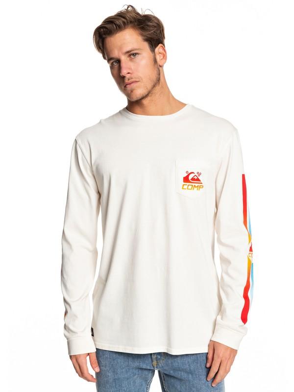 0 St Comp Factory - Camiseta de Manga Larga con Bolsillo para Hombre Blanco EQYZT05342 Quiksilver