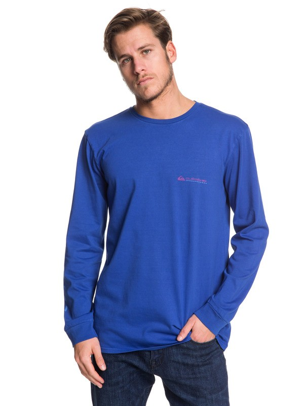 0 St Comp Pro Trials Long Sleeve Tee Blue EQYZT05343 Quiksilver
