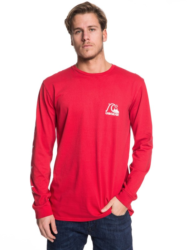 0 Echo Star Long Sleeve Tee Red EQYZT05345 Quiksilver