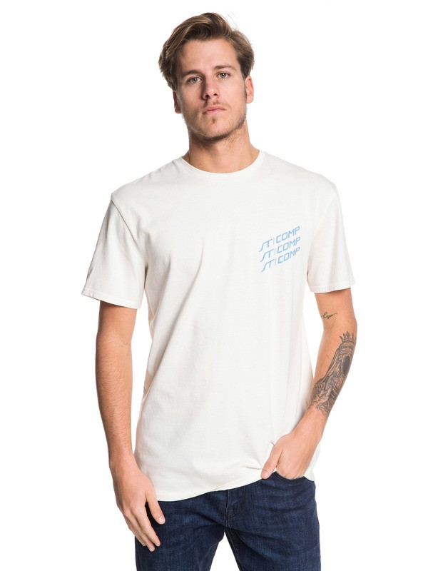 0 Fast Lane - Camiseta para Hombre Blanco EQYZT05346 Quiksilver