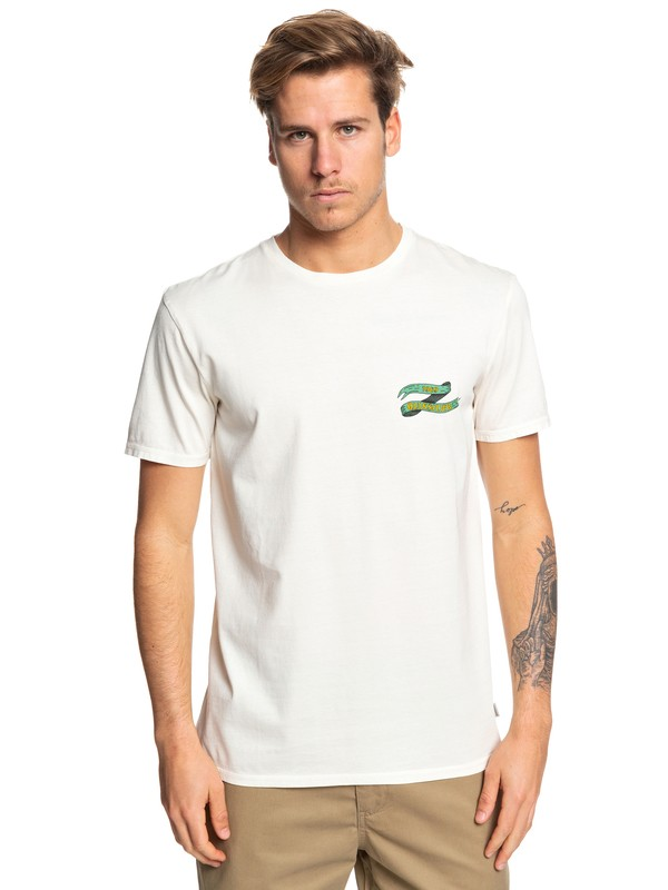 0 Electric Ocean Tee White EQYZT05360 Quiksilver