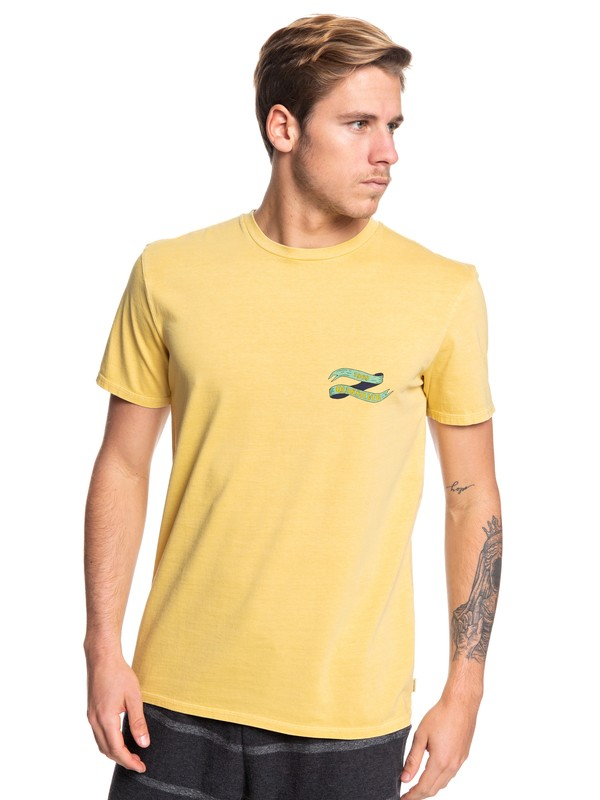 0 Electric Ocean Tee Yellow EQYZT05360 Quiksilver