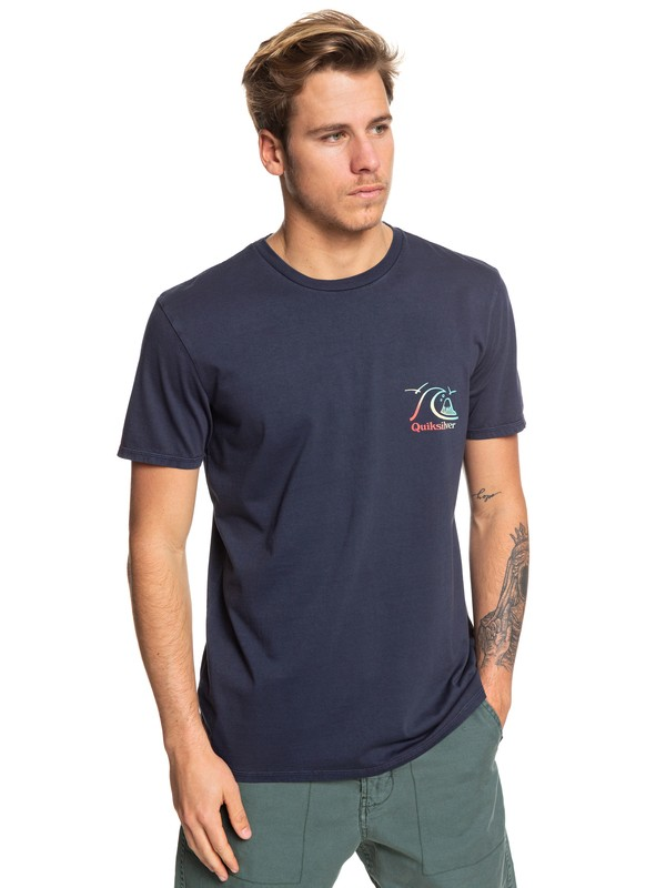0 Faded Potential Tee Blue EQYZT05361 Quiksilver