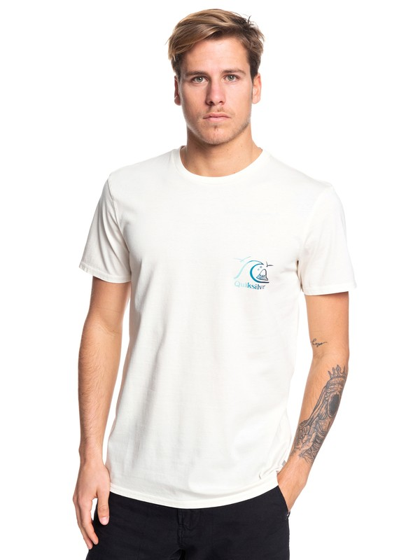 0 Faded Potential Tee White EQYZT05361 Quiksilver