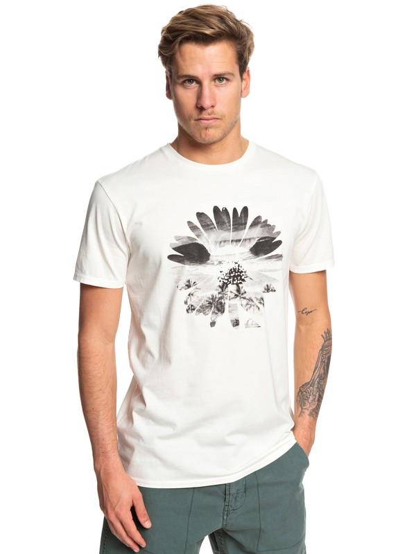 0 Camiseta - Flowers InThe Dirt Blanco EQYZT05363 Quiksilver