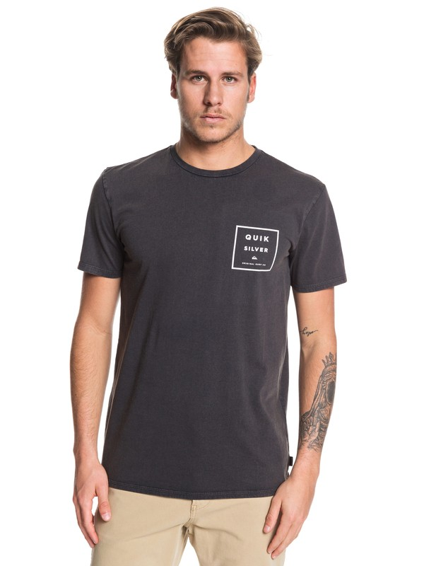 0 Squared Up Tee Black EQYZT05419 Quiksilver