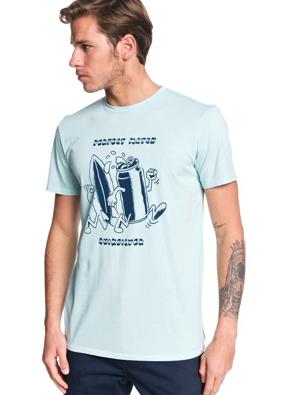 0 Tin Can Love Tee Blue EQYZT05438 Quiksilver