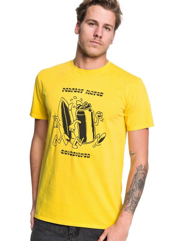 0 Tin Can Love - Camiseta para Hombre Verde EQYZT05438 Quiksilver