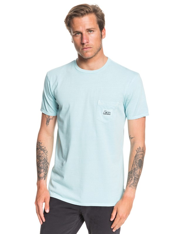 0 Above The Lip Pocket Tee Blue EQYZT05439 Quiksilver