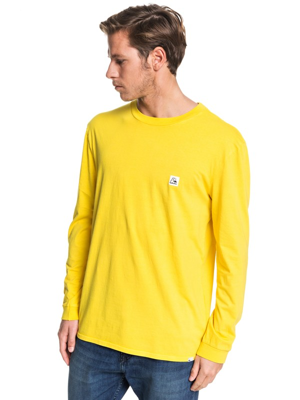 0 In The Middle Long Sleeve Tee Green EQYZT05442 Quiksilver