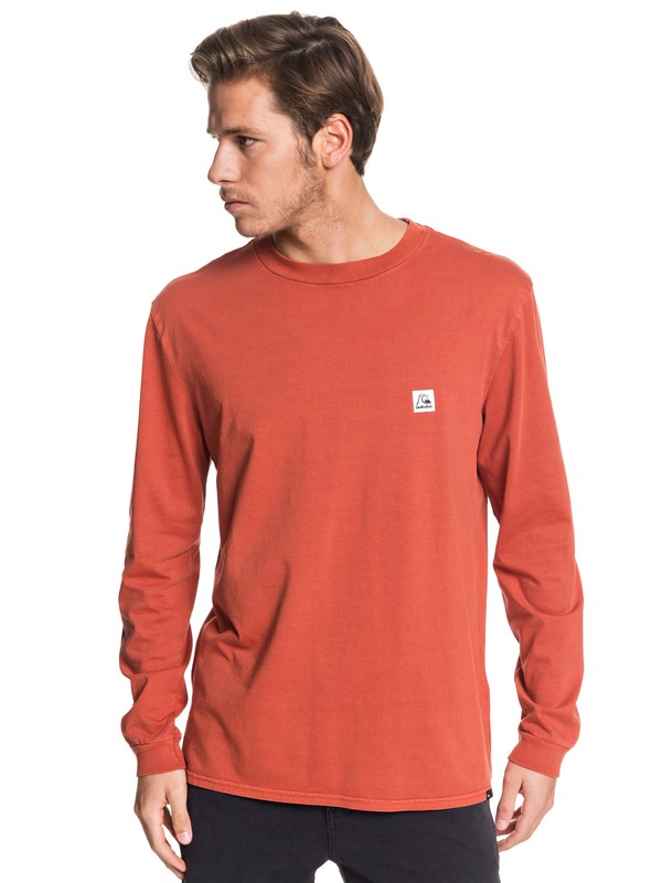 0 In The Middle - Long Sleeve T-Shirt Pink EQYZT05442 Quiksilver