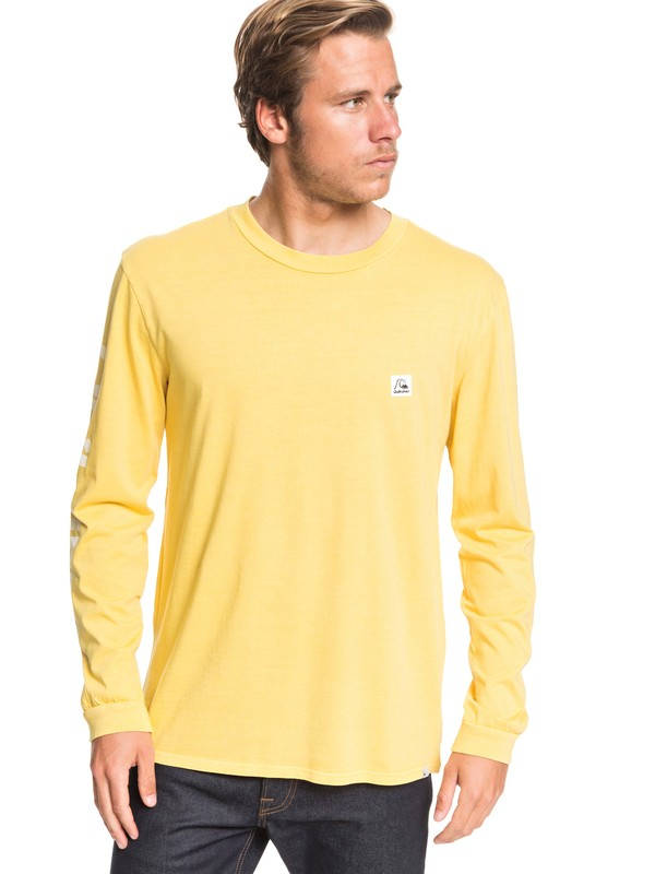 0 In The Middle Long Sleeve Tee Yellow EQYZT05442 Quiksilver