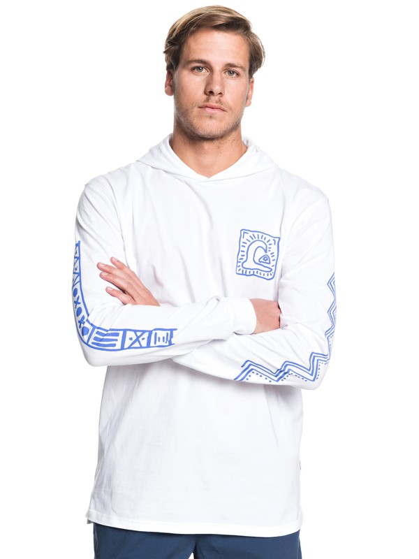 0 Bright Eye Hooded Long Sleeve Tee White EQYZT05449 Quiksilver