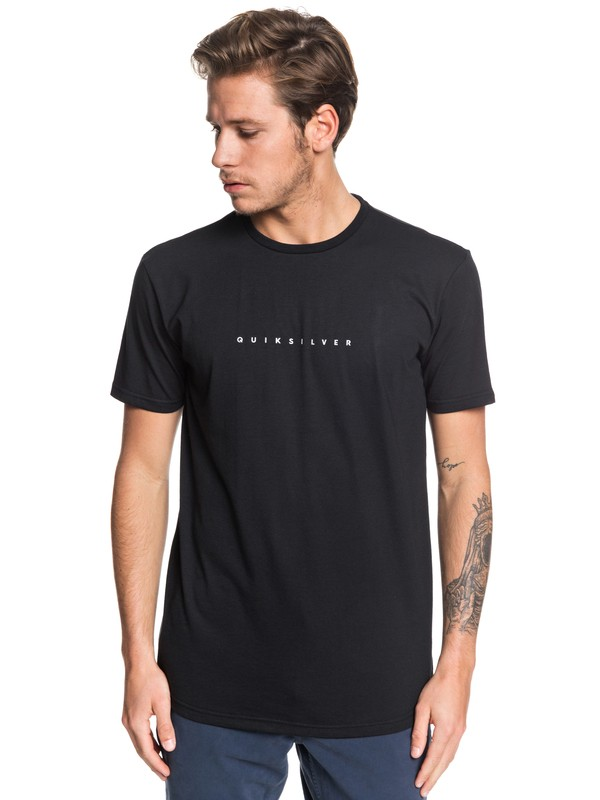 0 Night Tract Tee Black EQYZT05454 Quiksilver