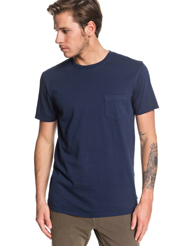 0 Basic Washed Tee Blue EQYZT05460 Quiksilver