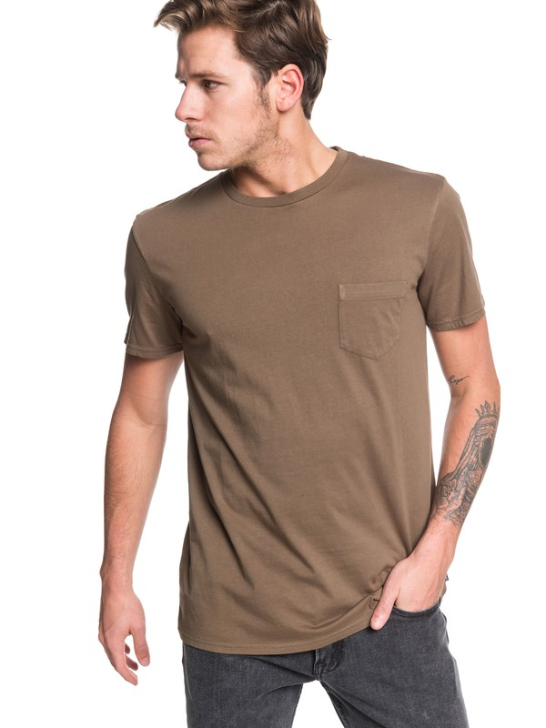 0 Basic Washed Tee Brown EQYZT05460 Quiksilver